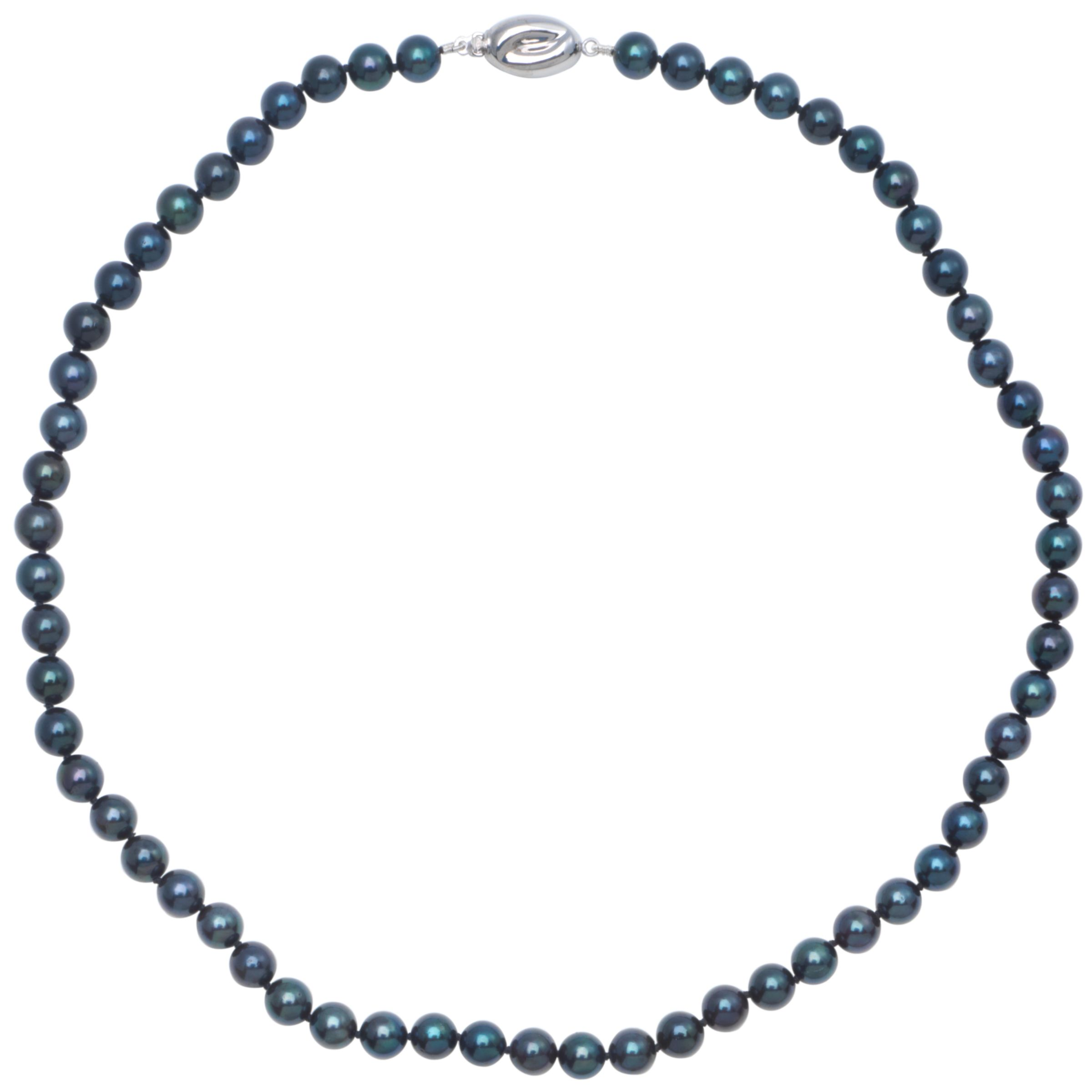 Cultured Black Pearl Knotted 18
