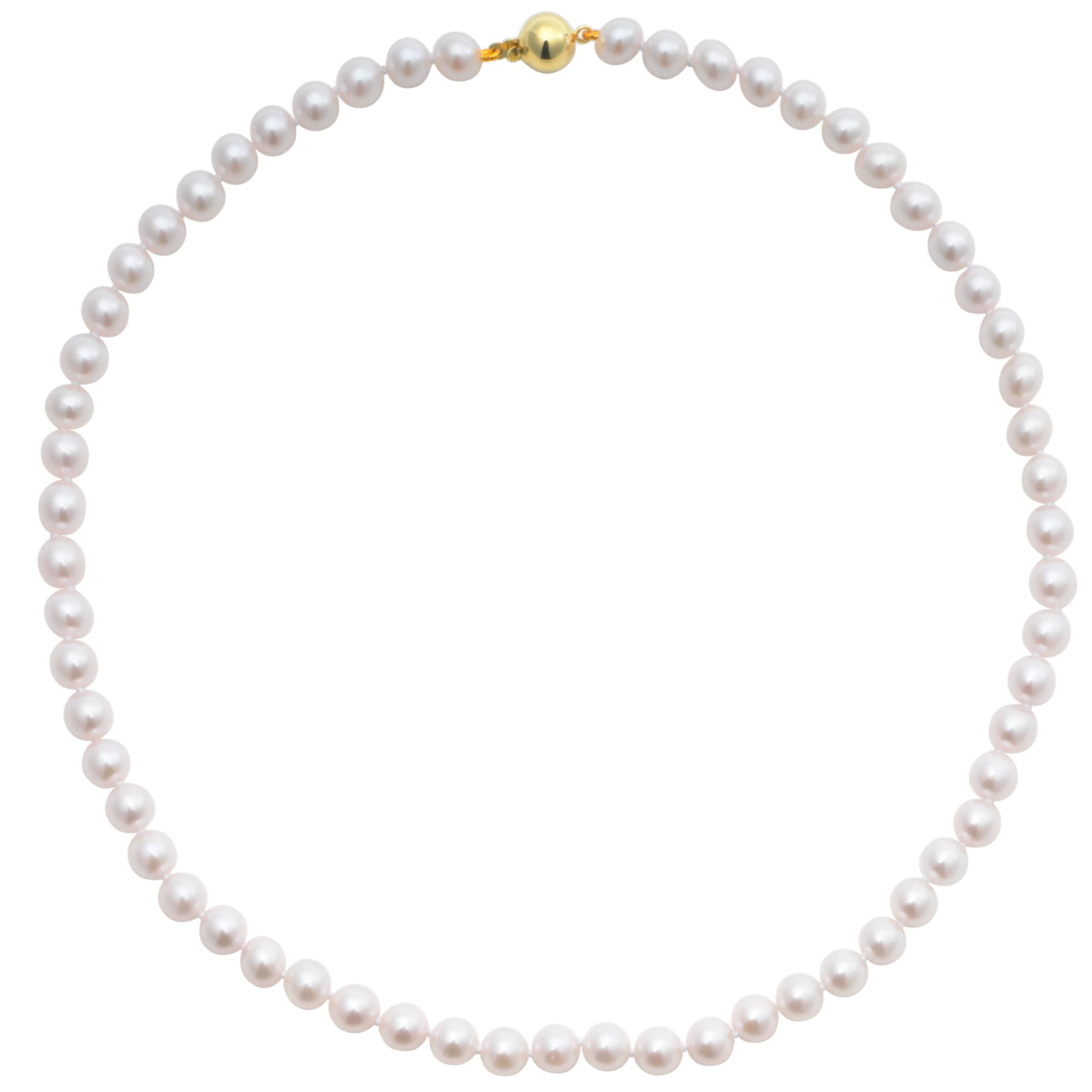 Cultured Pearls Knotted 18