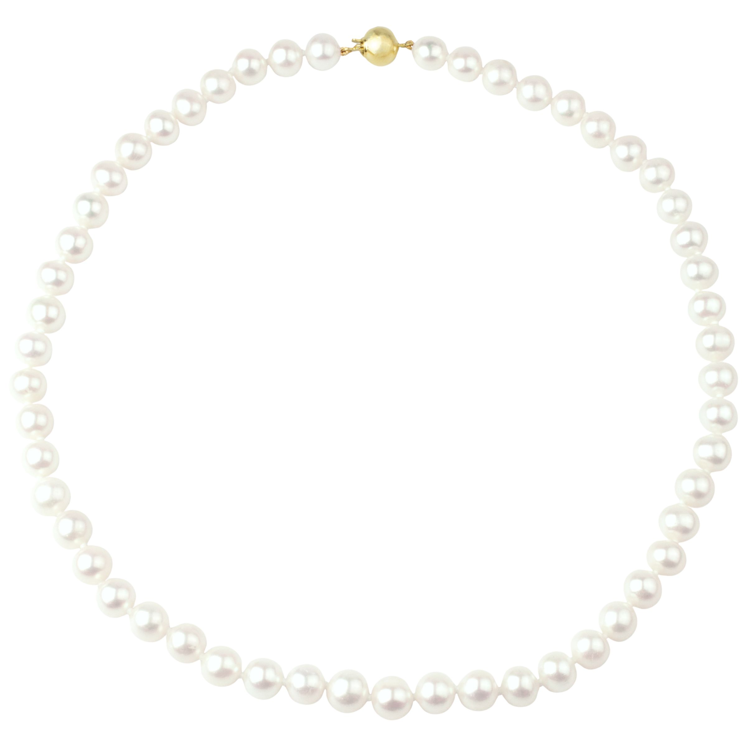 Freshwater Lustre Pearls Knotted 16
