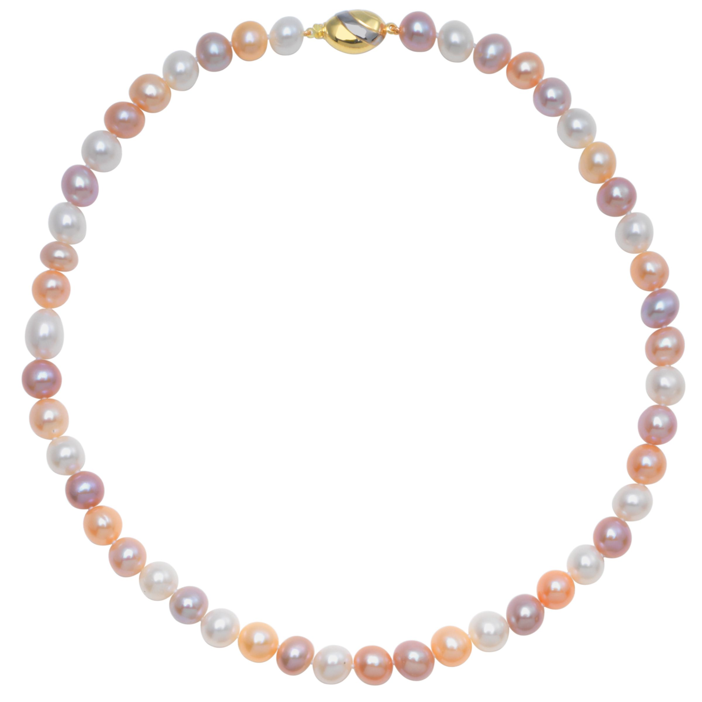 3 Tone Freshwater Pearls Knotted 18