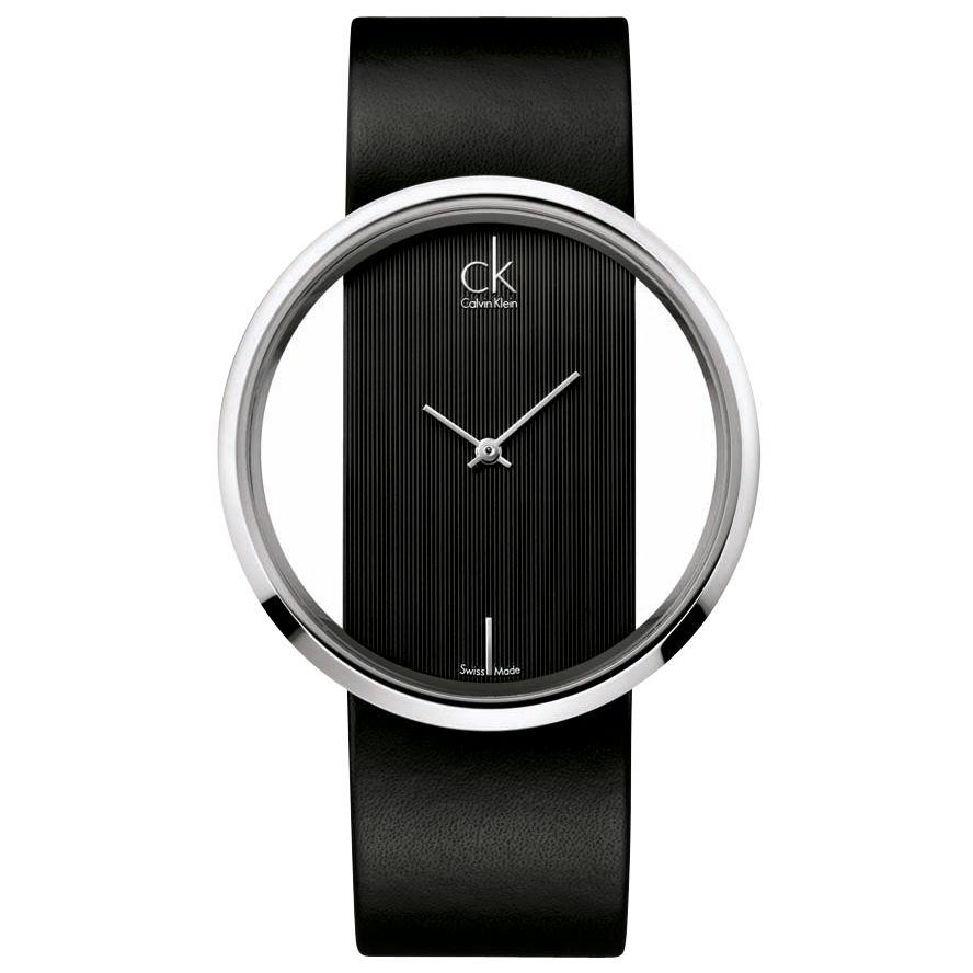 CK Calvin Klein K9423101 Women's Glam Strap Watch, Black at John Lewis