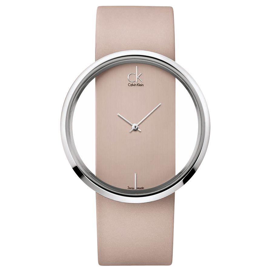 CK Calvin Klein K9423101 Women's Glam Strap Watch, Taupe at John Lewis