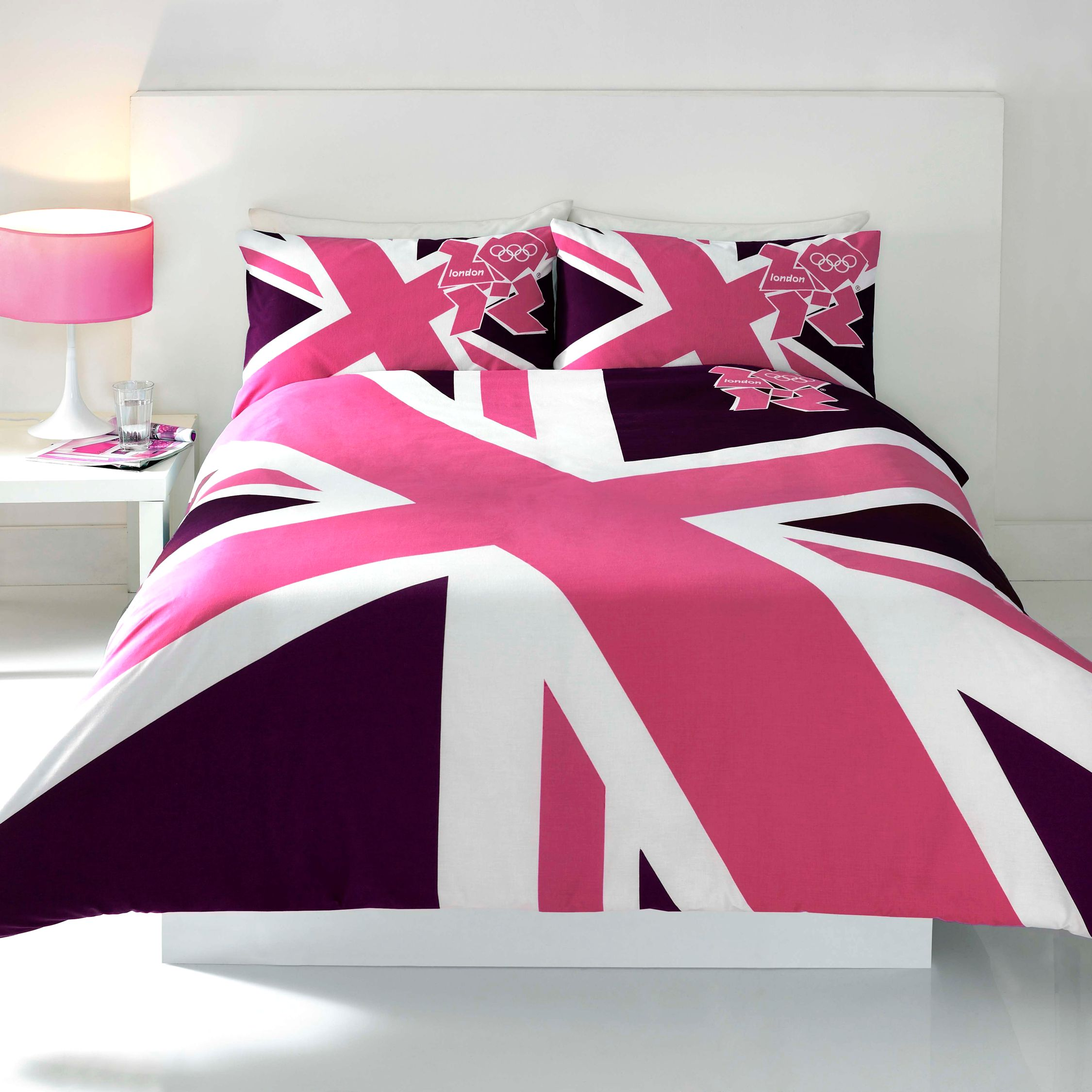 Fc duvet cover and pillowcase for Pink union jack bedding