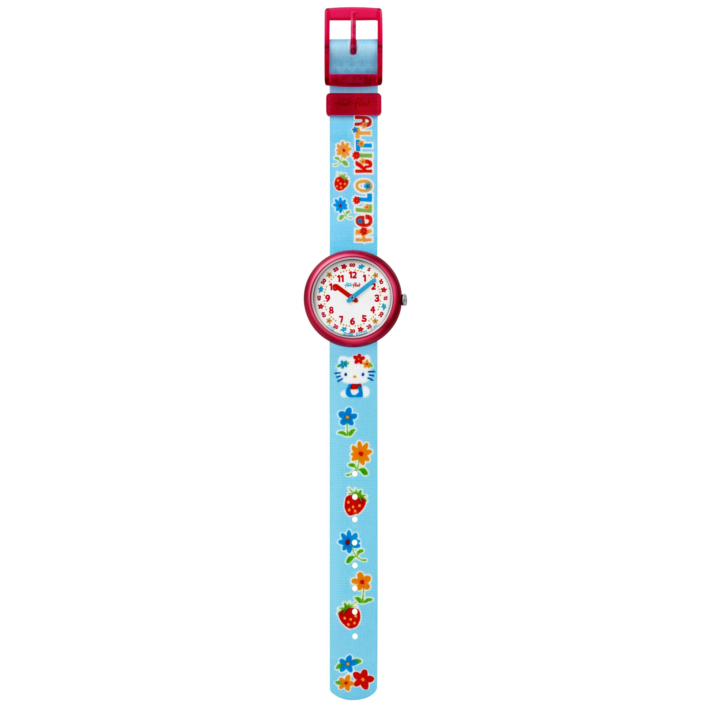 Hello Kitty Girls Fabric Strap Watch, Blue
