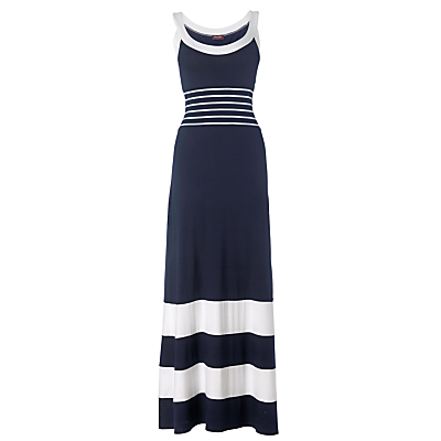 Buy Phase Eight Stripey Maxi Dress, Navy/white online at JohnLewis.com - John Lewis