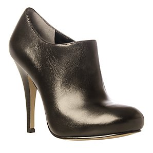 KG by Kurt Geiger Menezes Leather Court Shoes, Black, 6