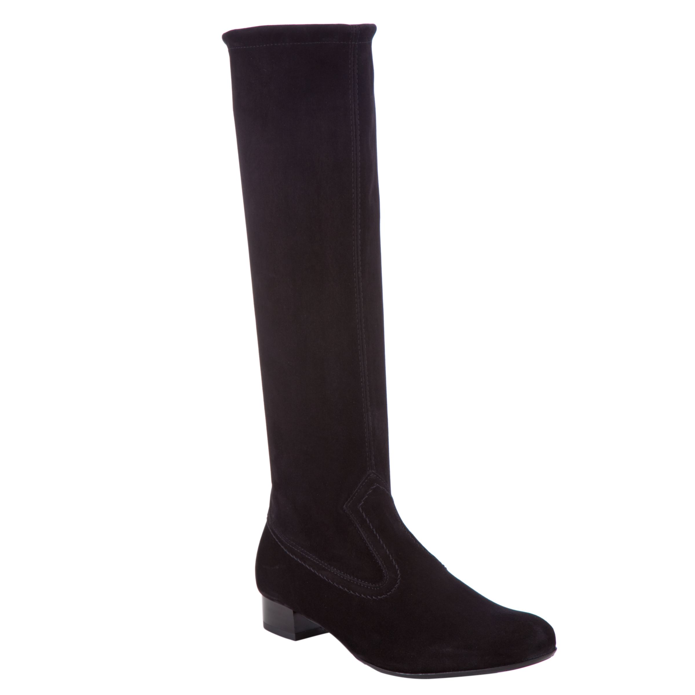 Peter Kaiser Fina Suede Stretch Knee High Boots, Black at John Lewis