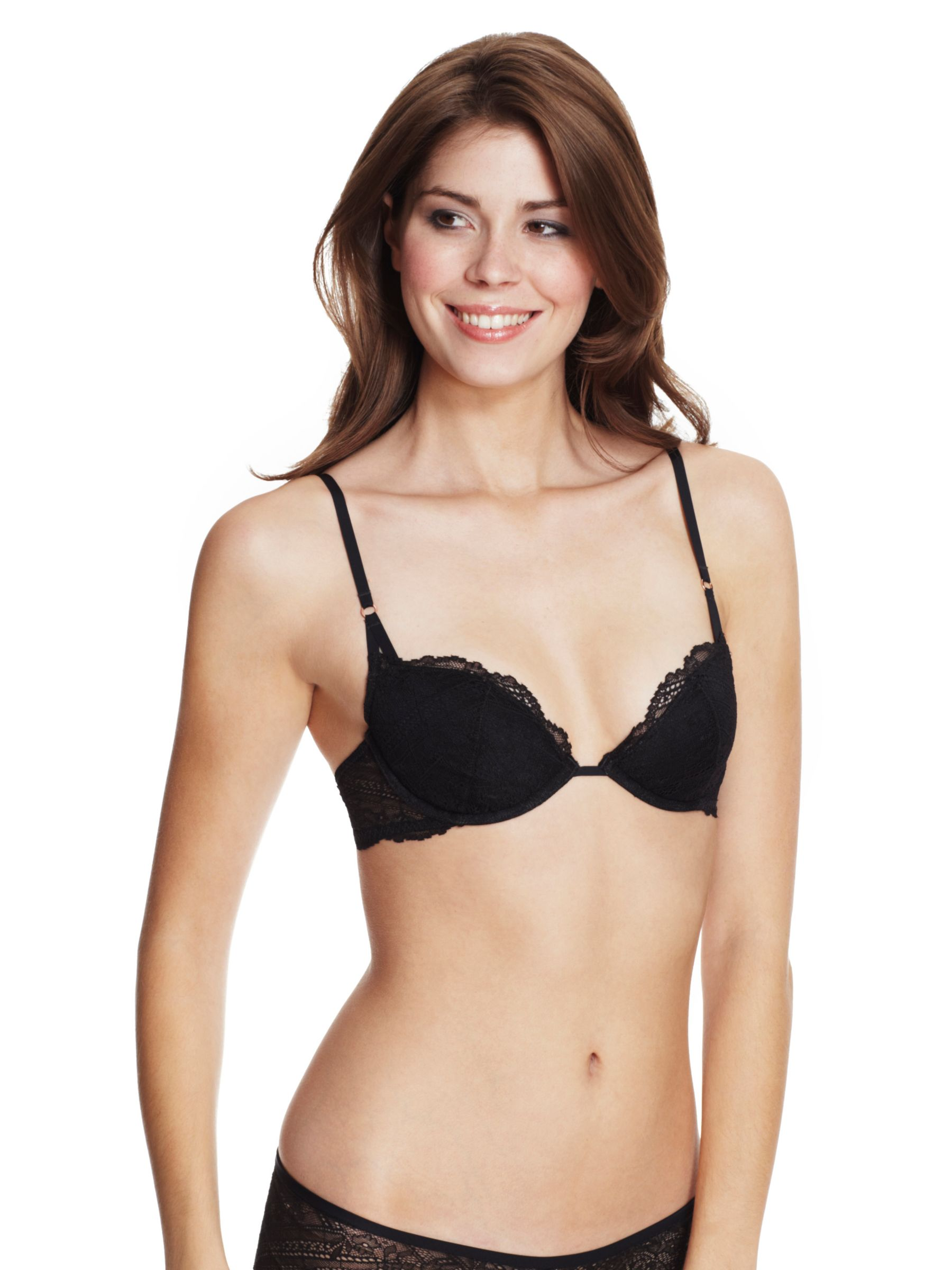 Calvin Klein Envy Lace Push Up Bra, Black