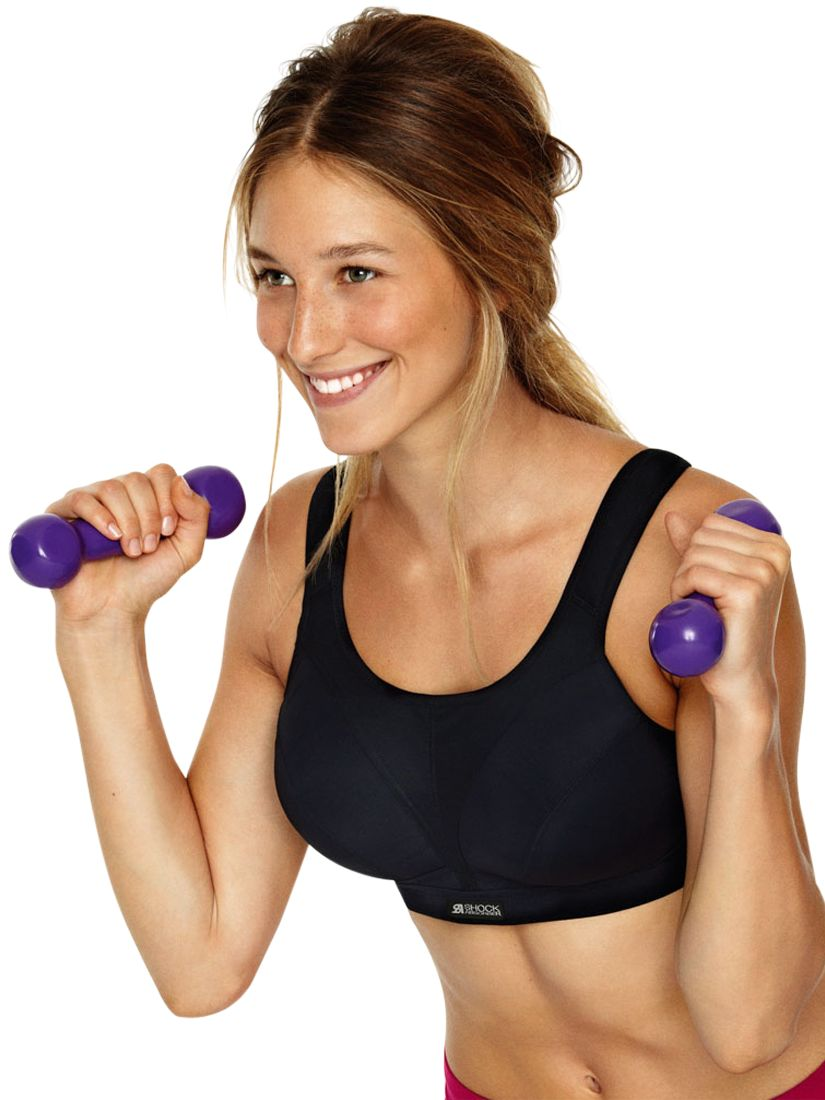 Shock Absorber Fuller Cup Sports Bra, Black
