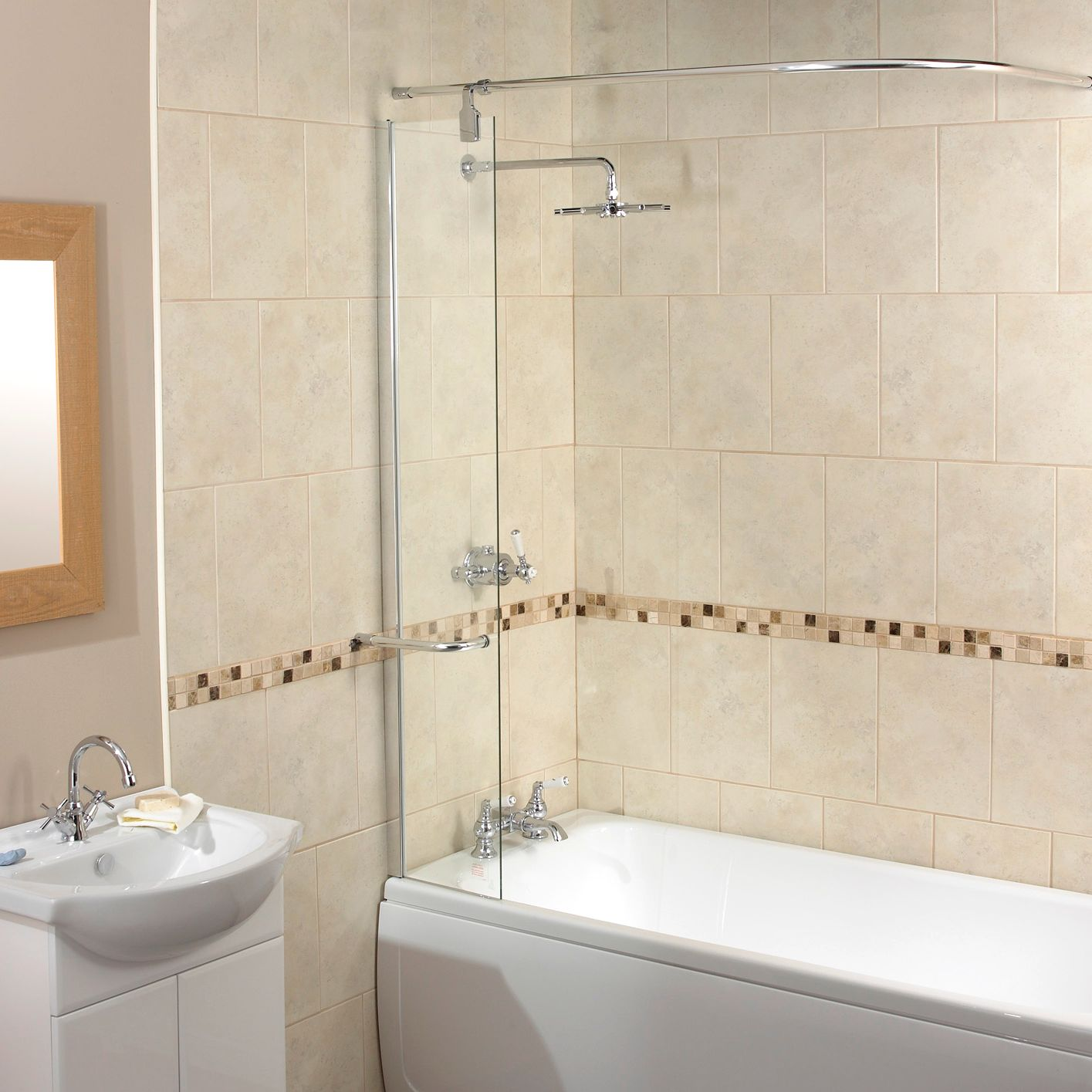 John Lewis Splash Guard Shower Screen With Rail Review