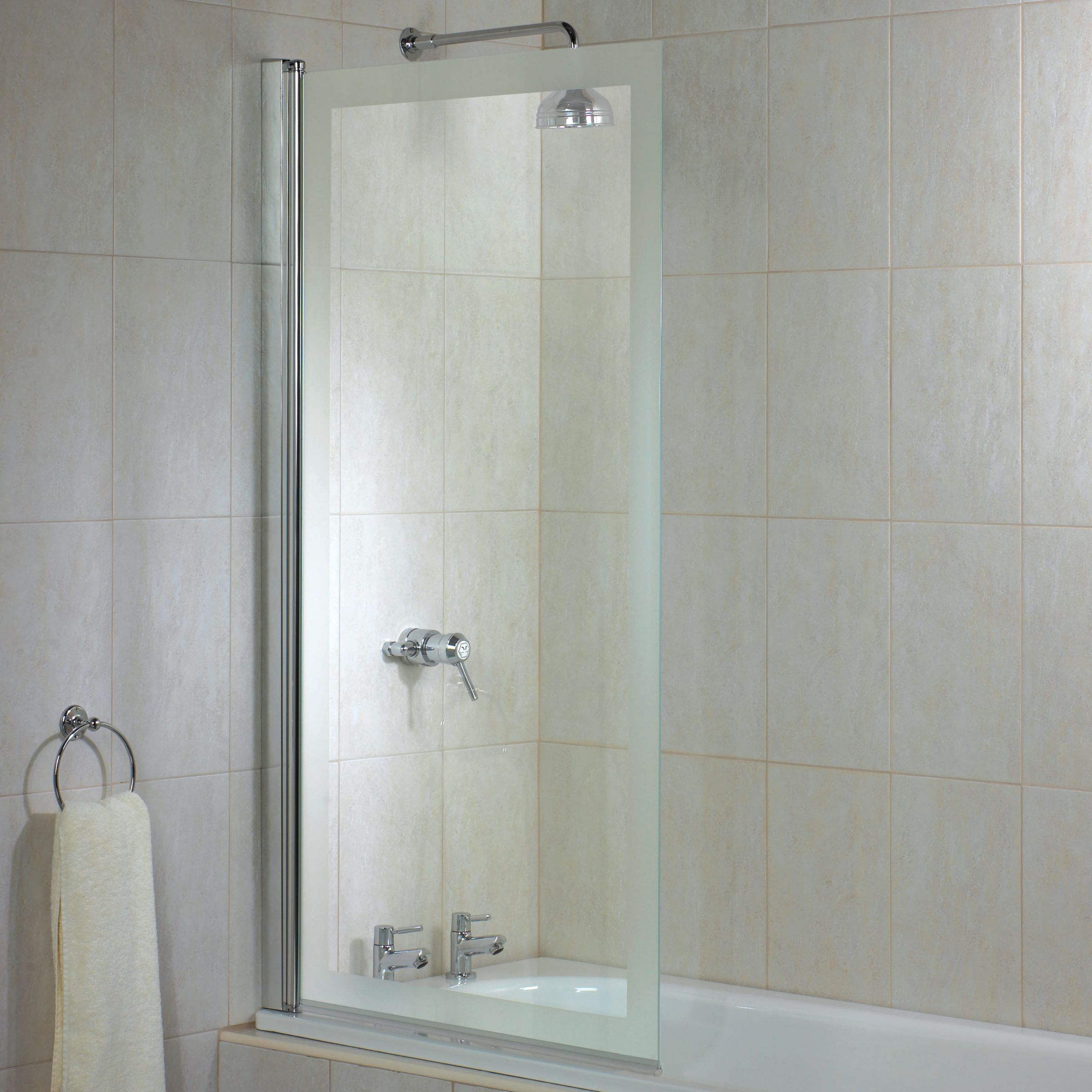 john lewis elite half frame square shower screen