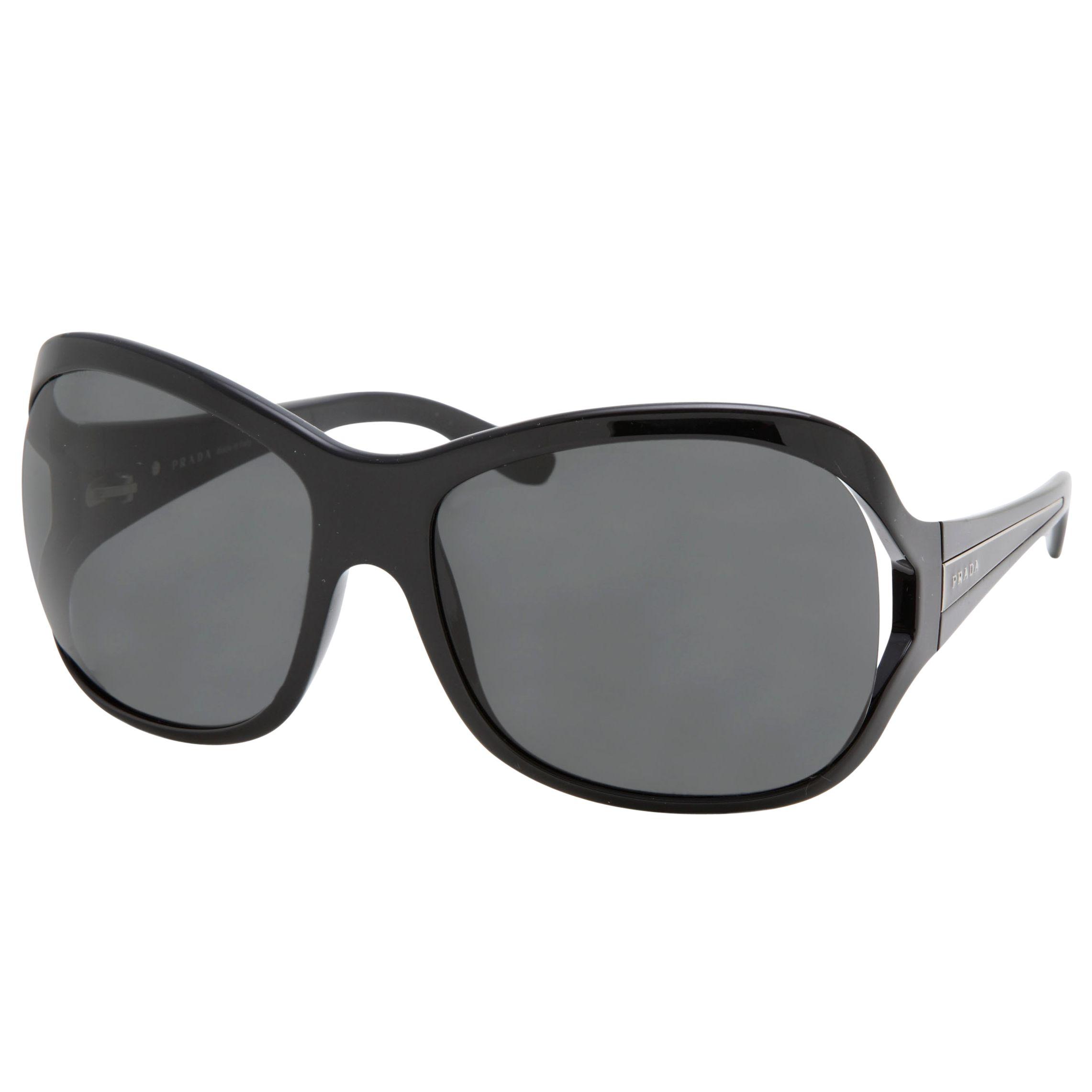 Prada Women's Large Cut-Out Lens Sunglasses, Tortoiseshell at John Lewis
