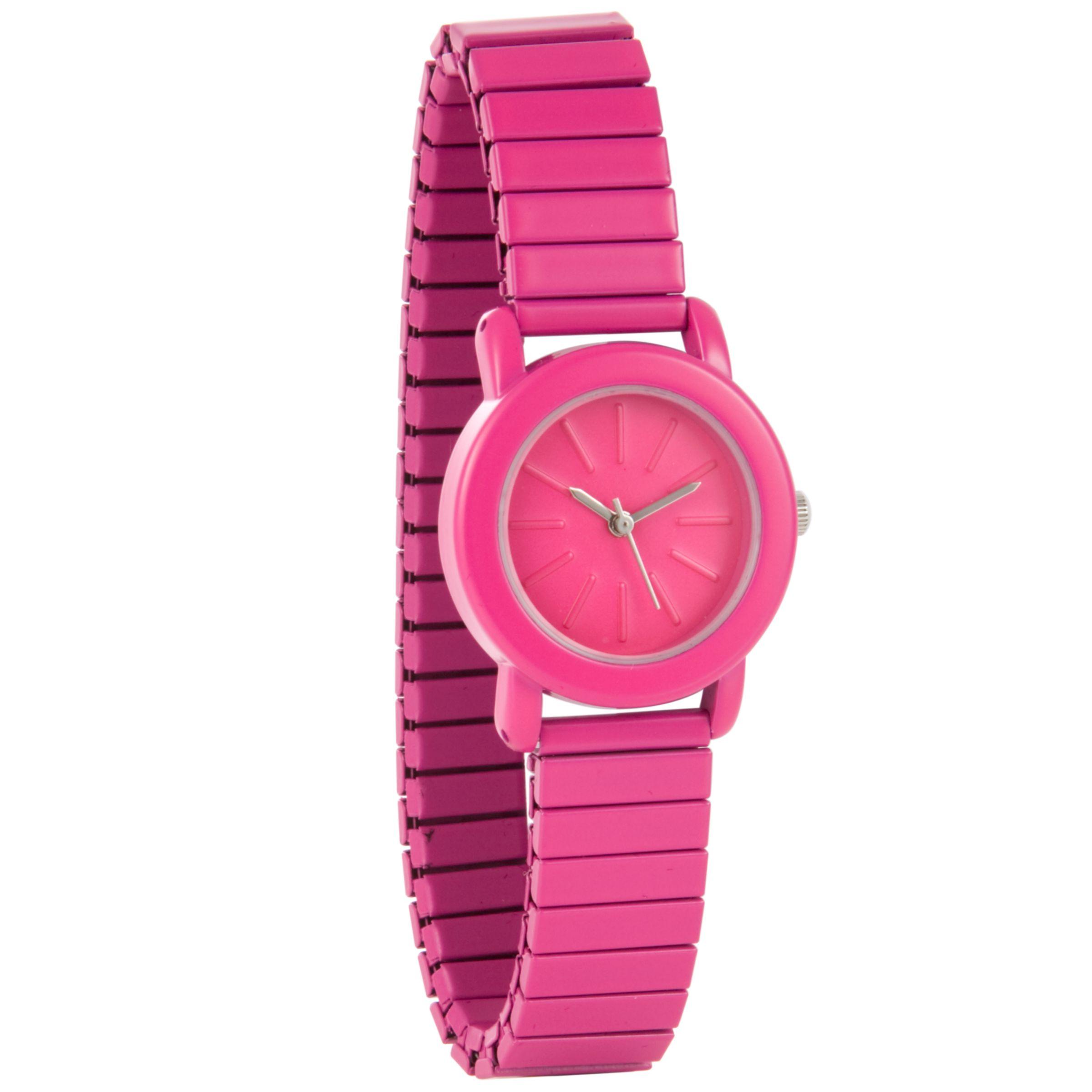 John Lewis Women Expander Bracelet Watch, Pink