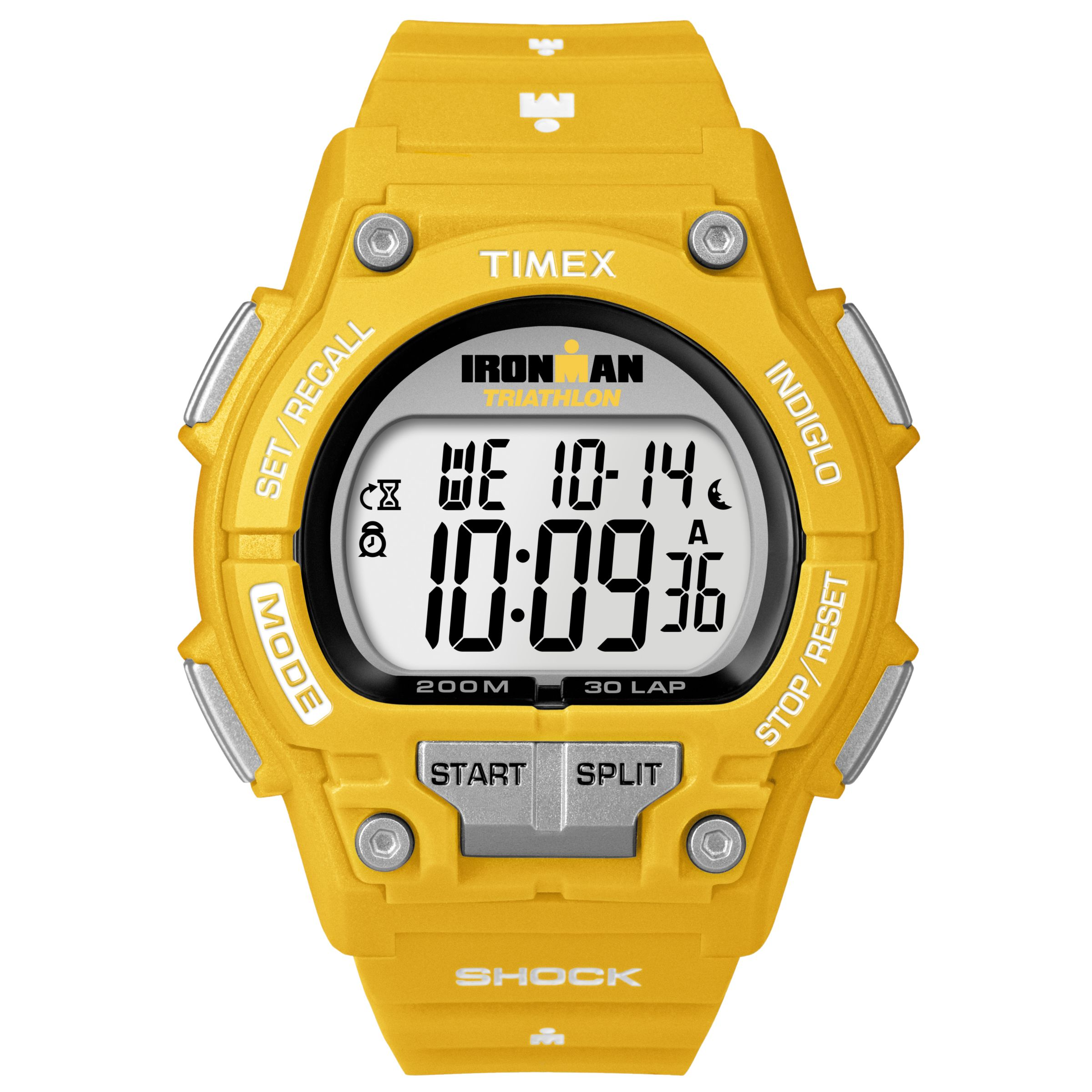 Timex Originals T5K429 Classic Shock Unisex Digital Watch, Yellow