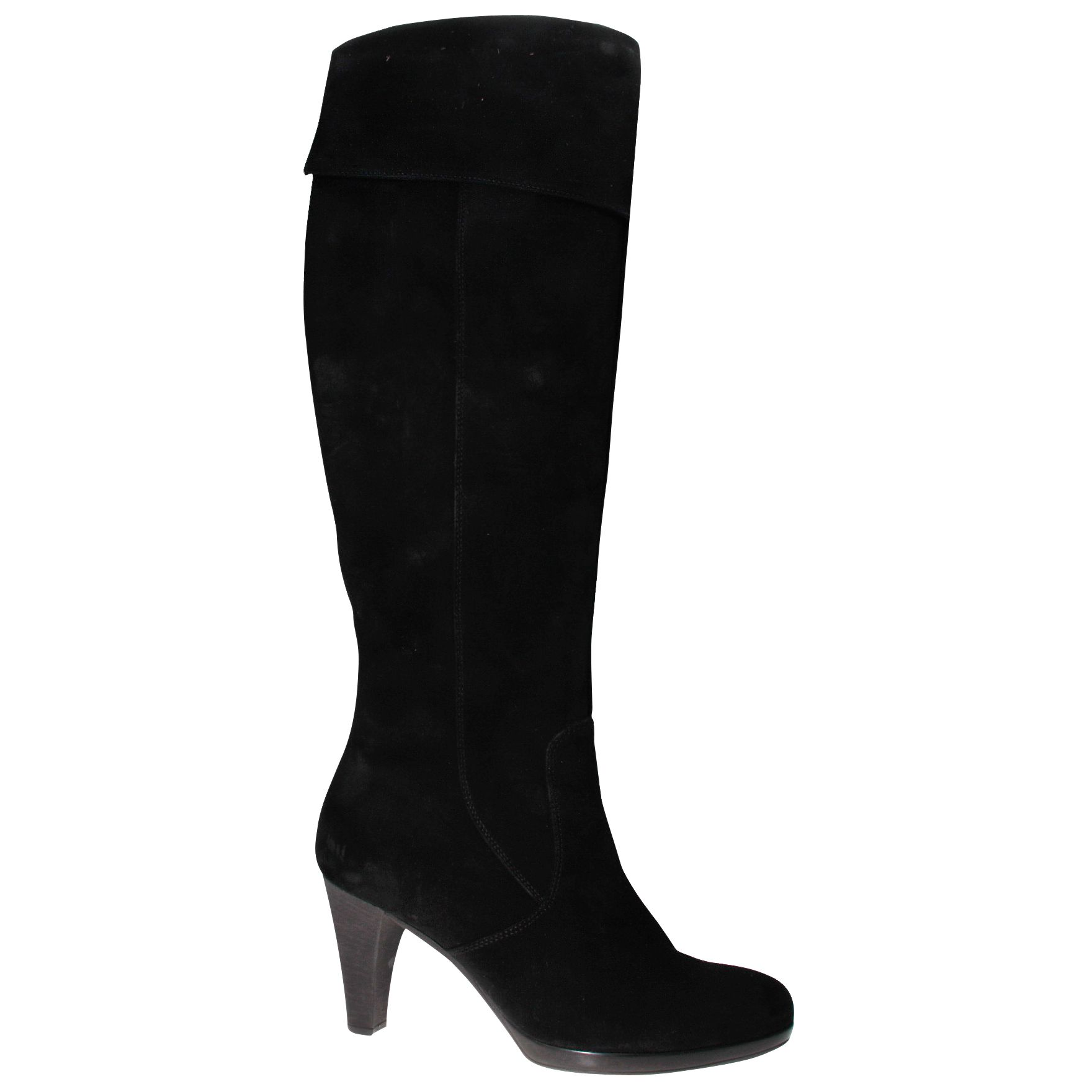 Gabor Gable Over The Knee Boots with Cuff, Black at John Lewis
