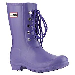 Hunter Short Lace Iris Wellington Boots