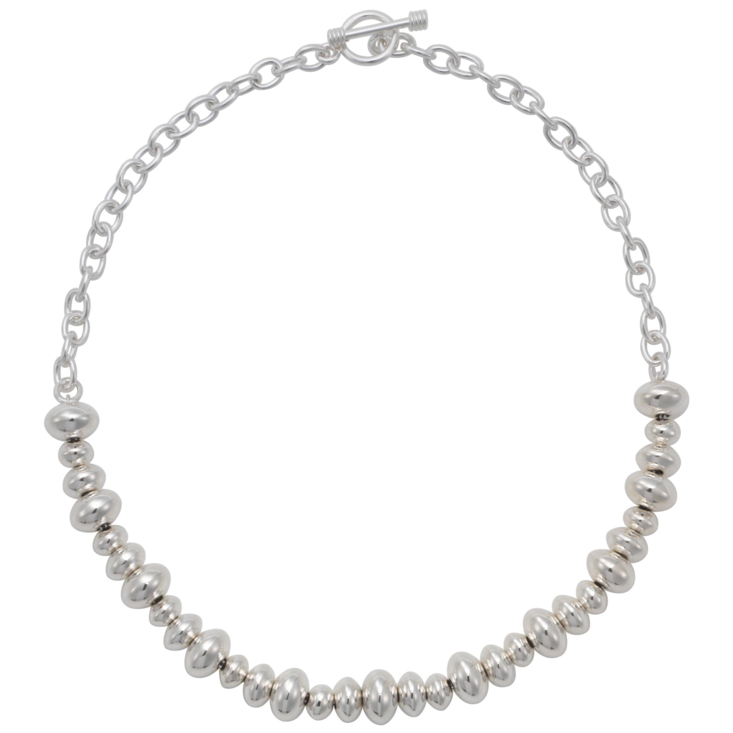 Andea Silver Rondelle Chain Necklace