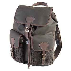 Barbour Beacon Wax Backpack, Brown, One size