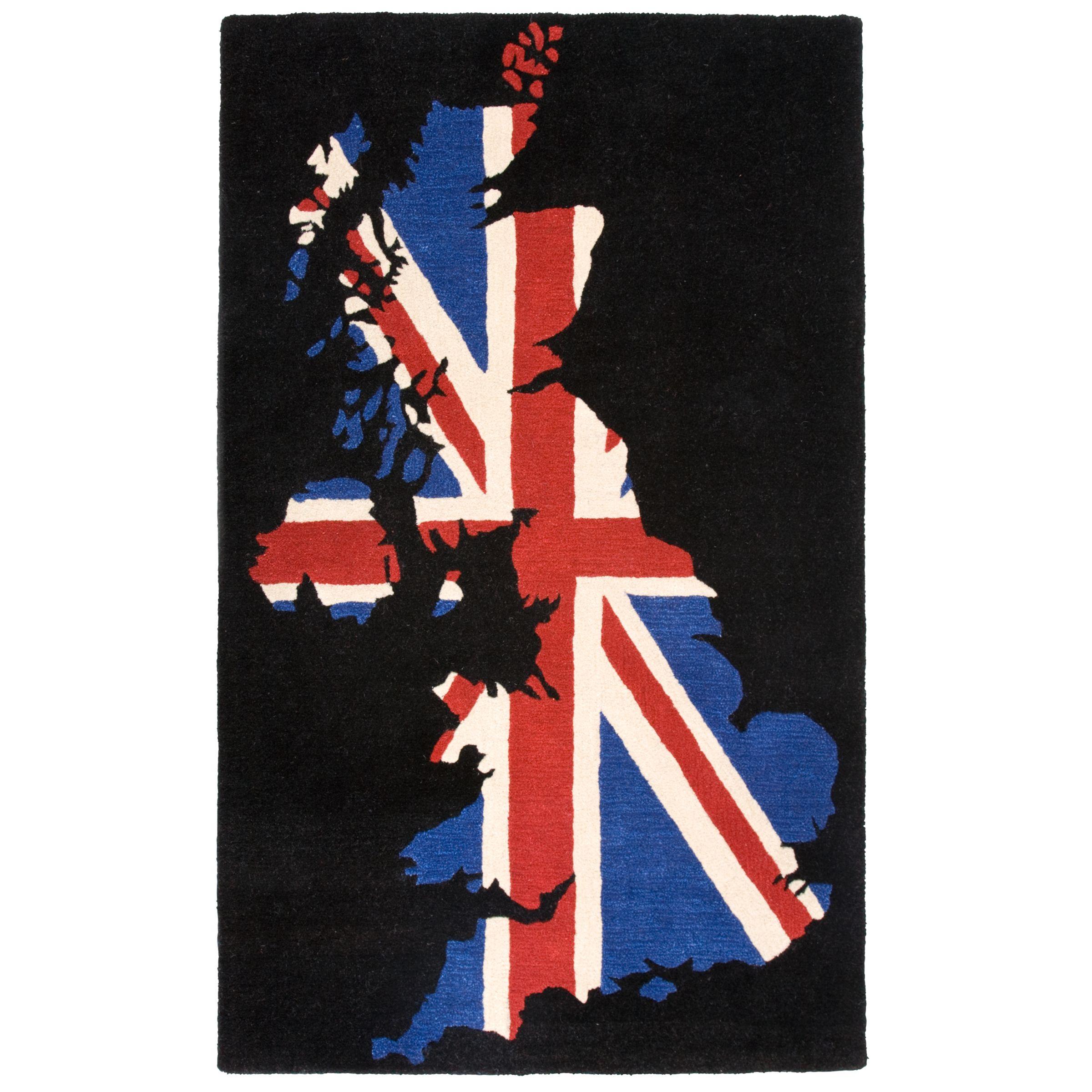 Ndelowor black and white union jack rug