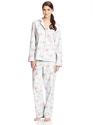 Cath Kidston Spray Flowers Classic Pyjamas, Blue, M