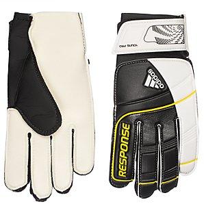 Adidas Q3+4 Response Football Training Gloves, White/black, 5