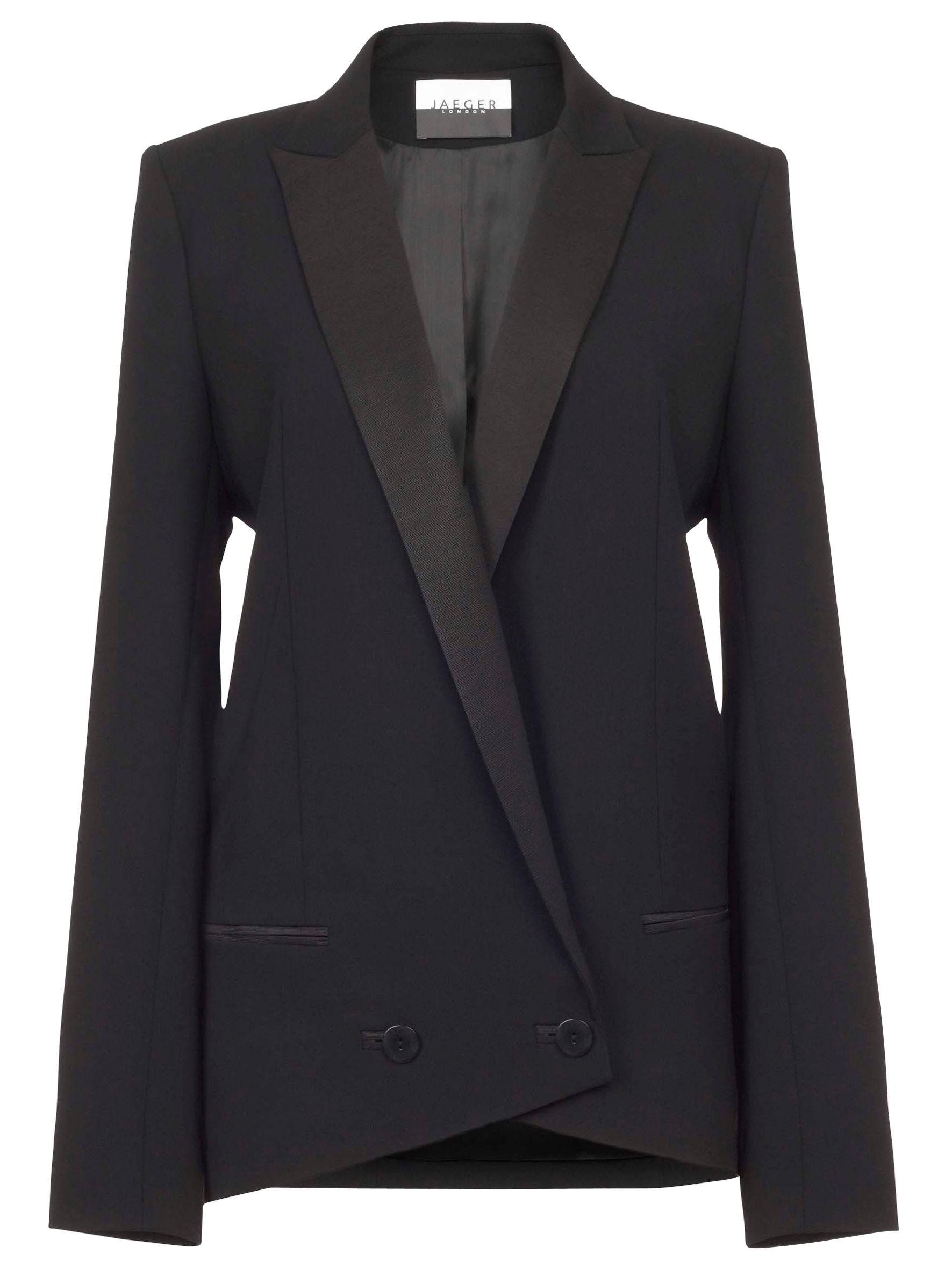 Jaeger Longline Tuxedo Jacket, Black at John Lewis