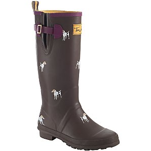 Joules Jack Russell Wellington Boots, Saddle