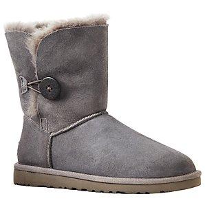 UGG B Button Short Boots, Grey