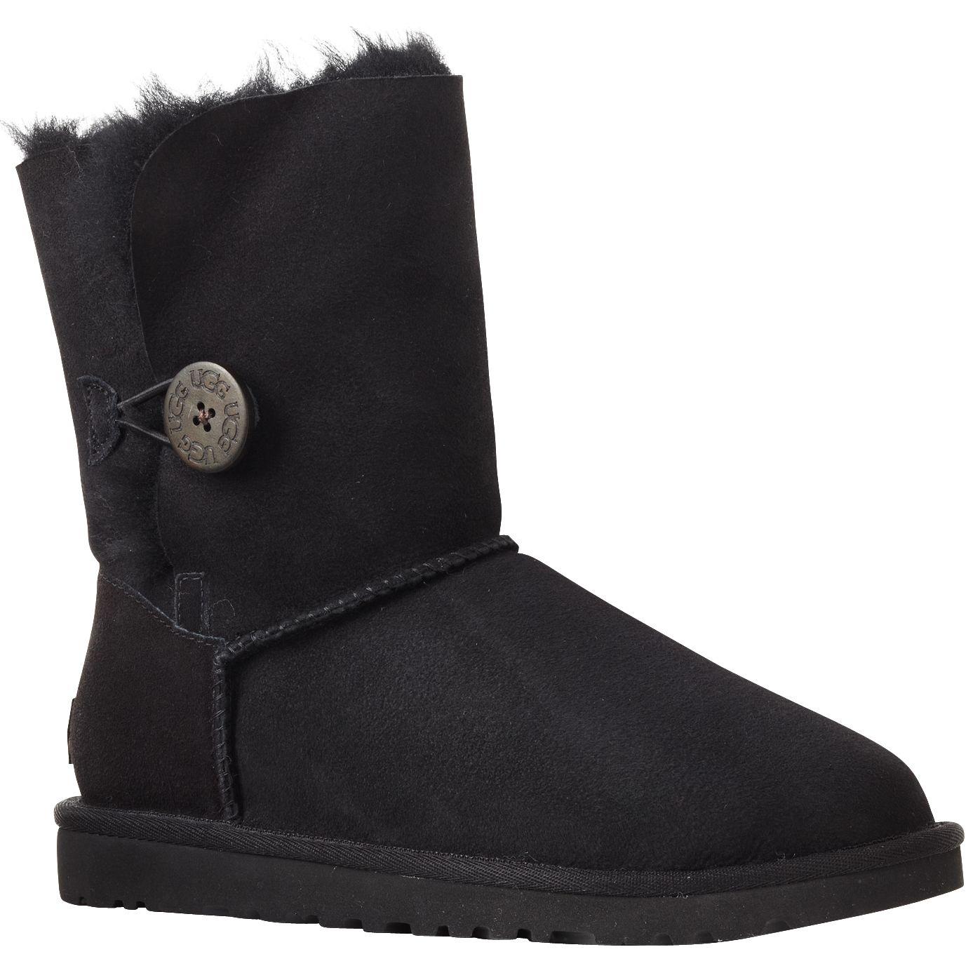 UGG B Button Short Boots, Black at John Lewis