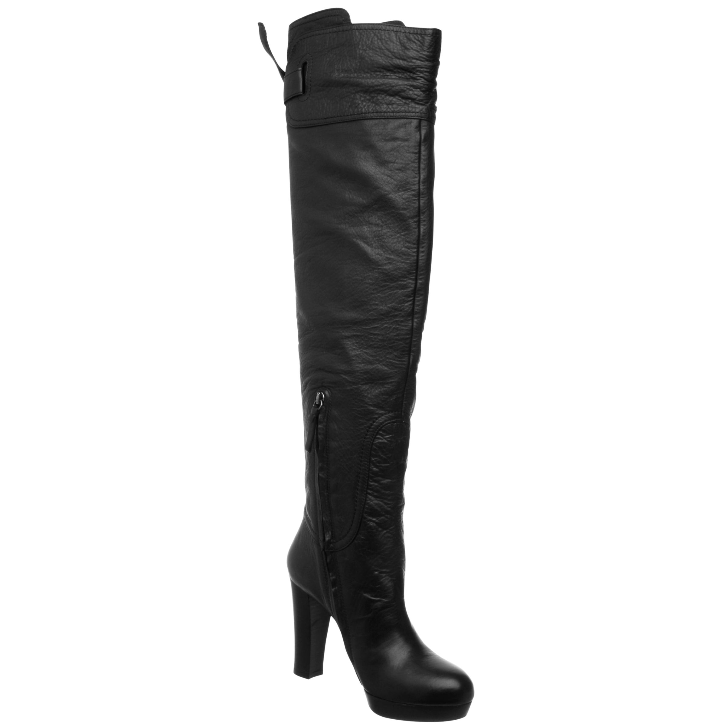 Pied A Terre Riviere Over The Knee Boots, Black at JohnLewis