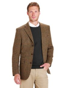 Barbour Check Tweed Jacket, Brown