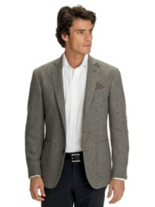 Hackett London Herringbone Tweed Jacket, Dark grey