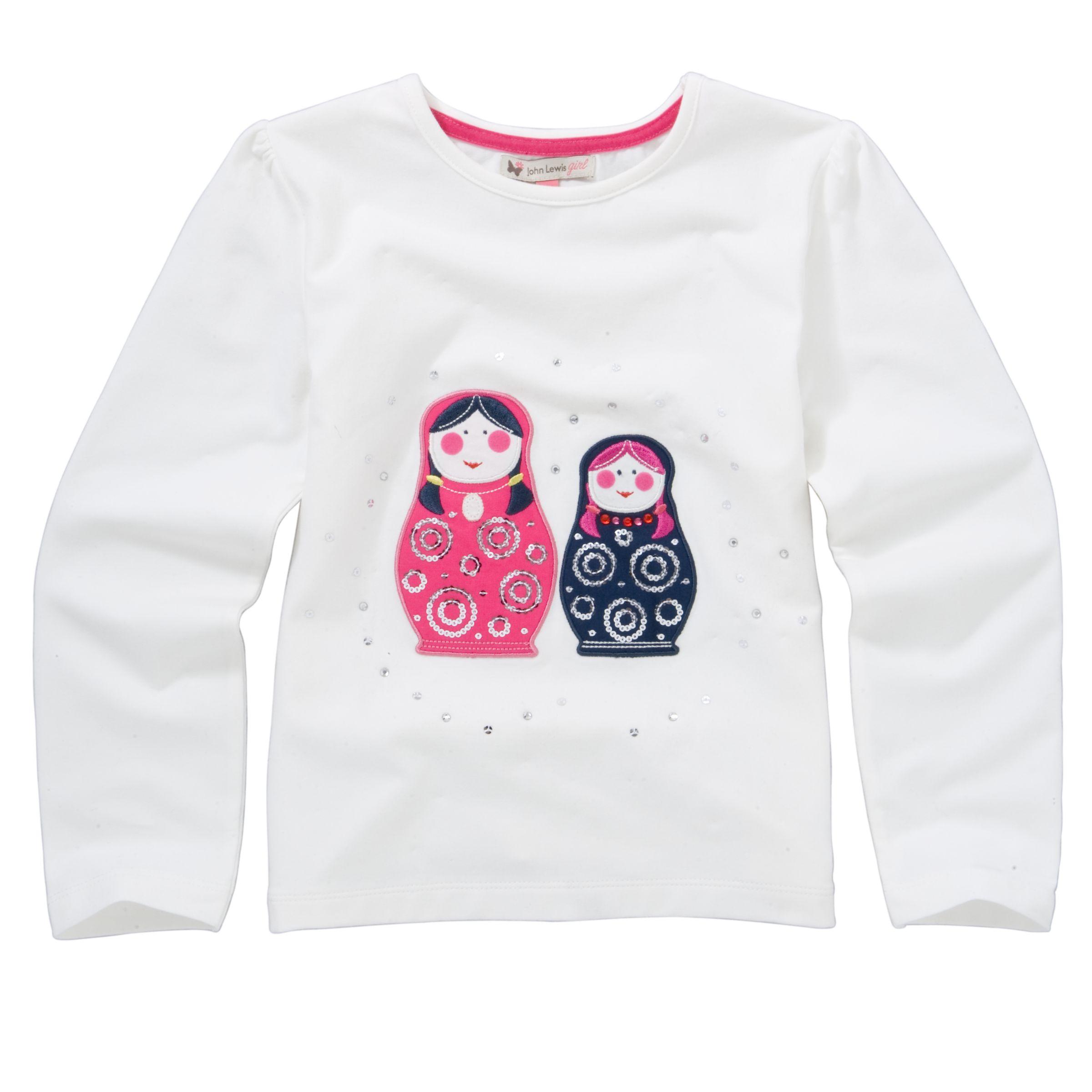 Russian Doll Applique T-Shirt,