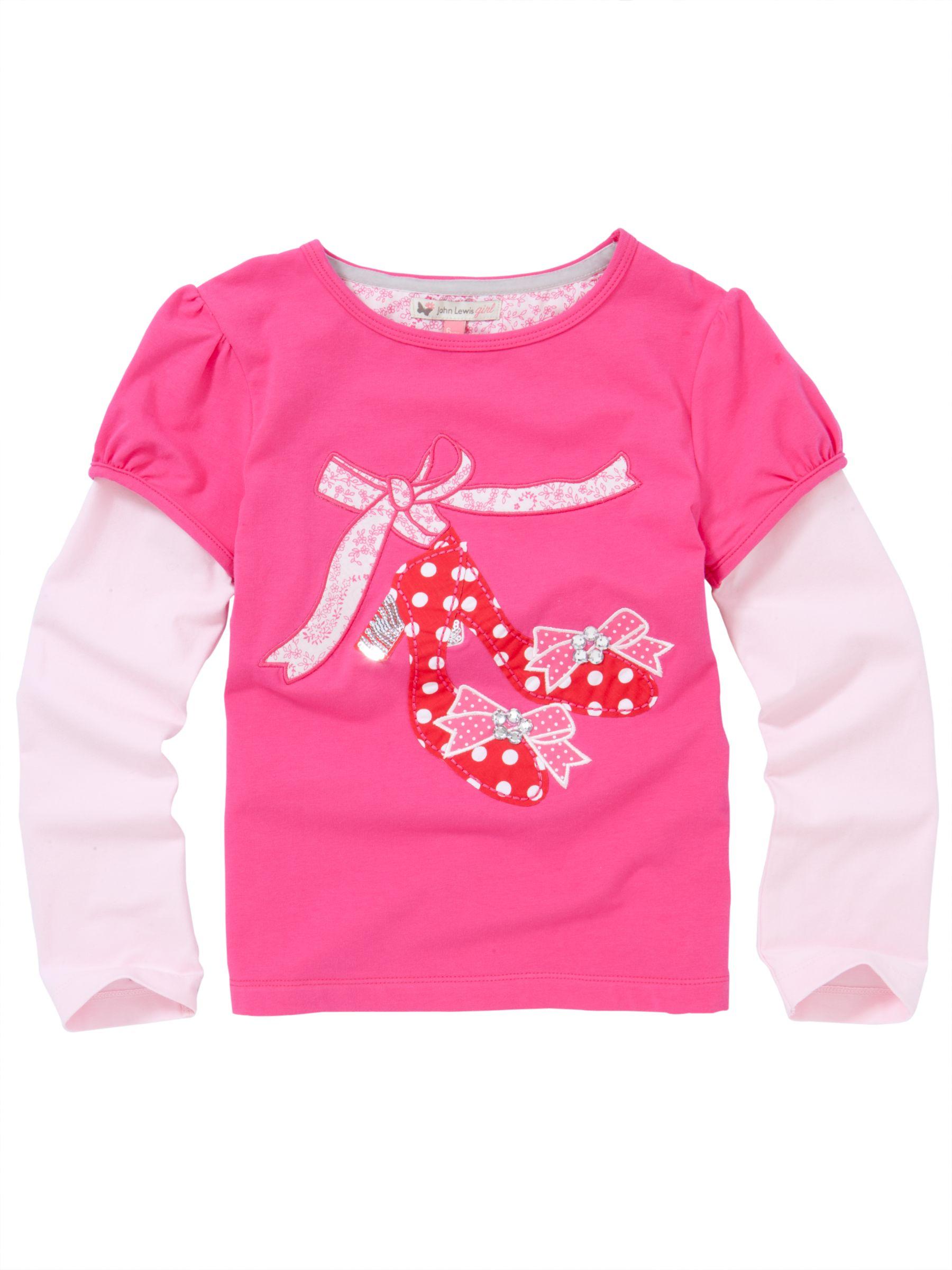 Shoes Applique T-Shirt, Pink