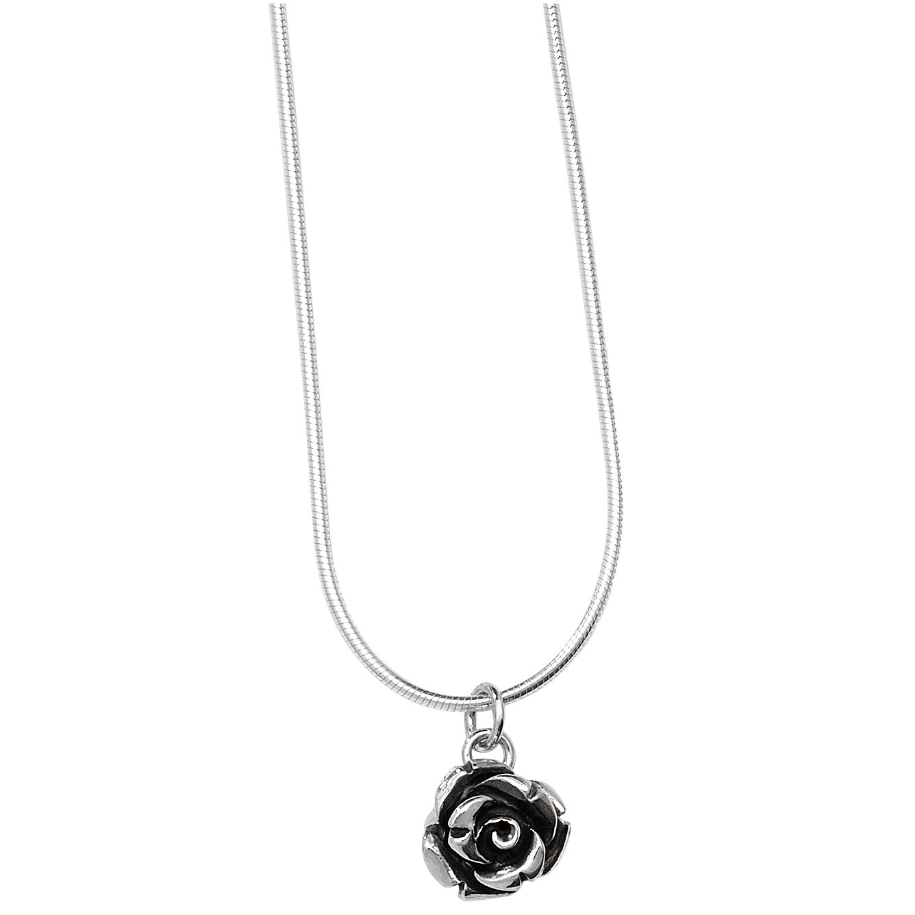 Linda Macdonald Small Silver Rose Pendant Necklace