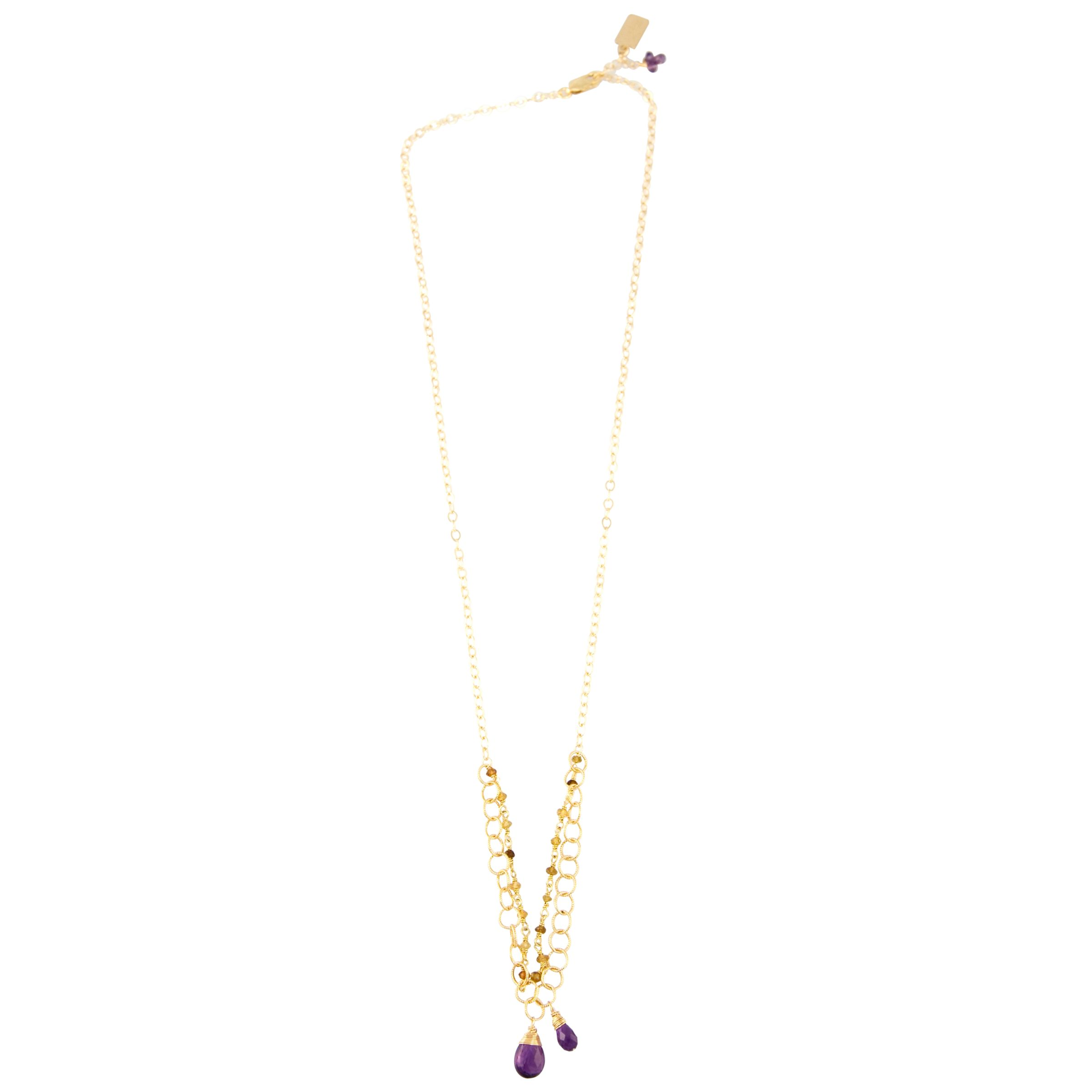RueBelle 14ct Gold Filled Double Chain Pendant Necklace