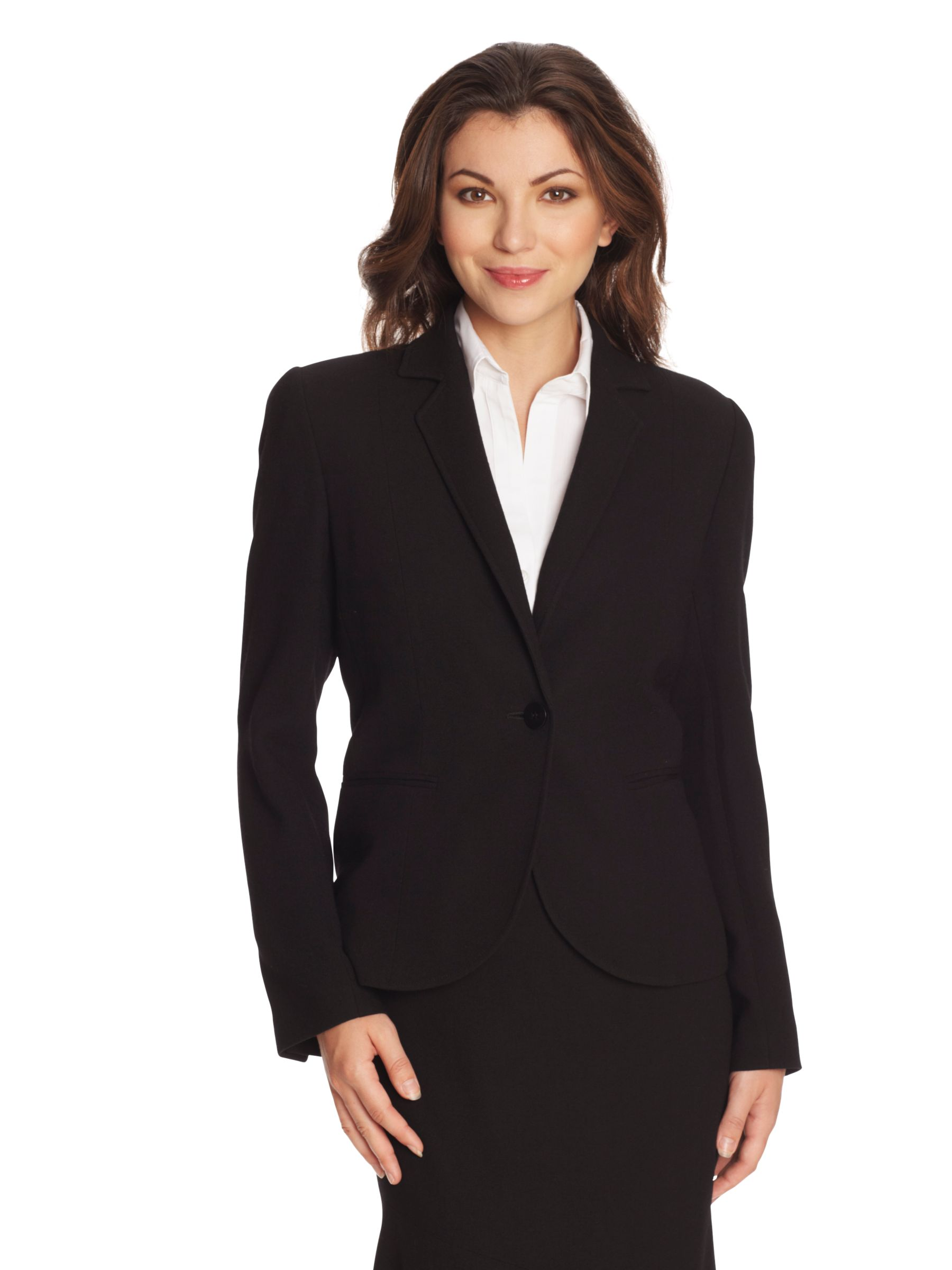 Paul Costelloe Two Button Blazer, Black at John Lewis