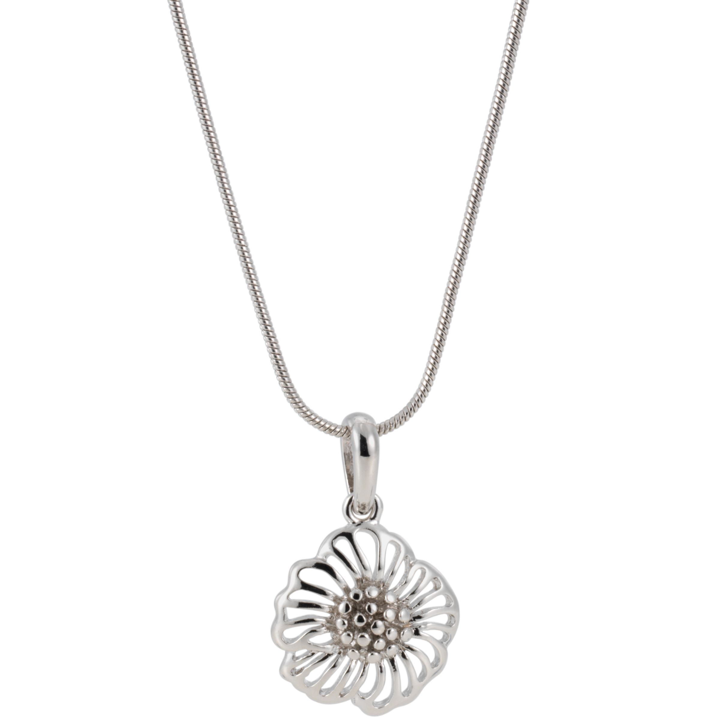 Finesse Poppy Flower Pendant Necklace