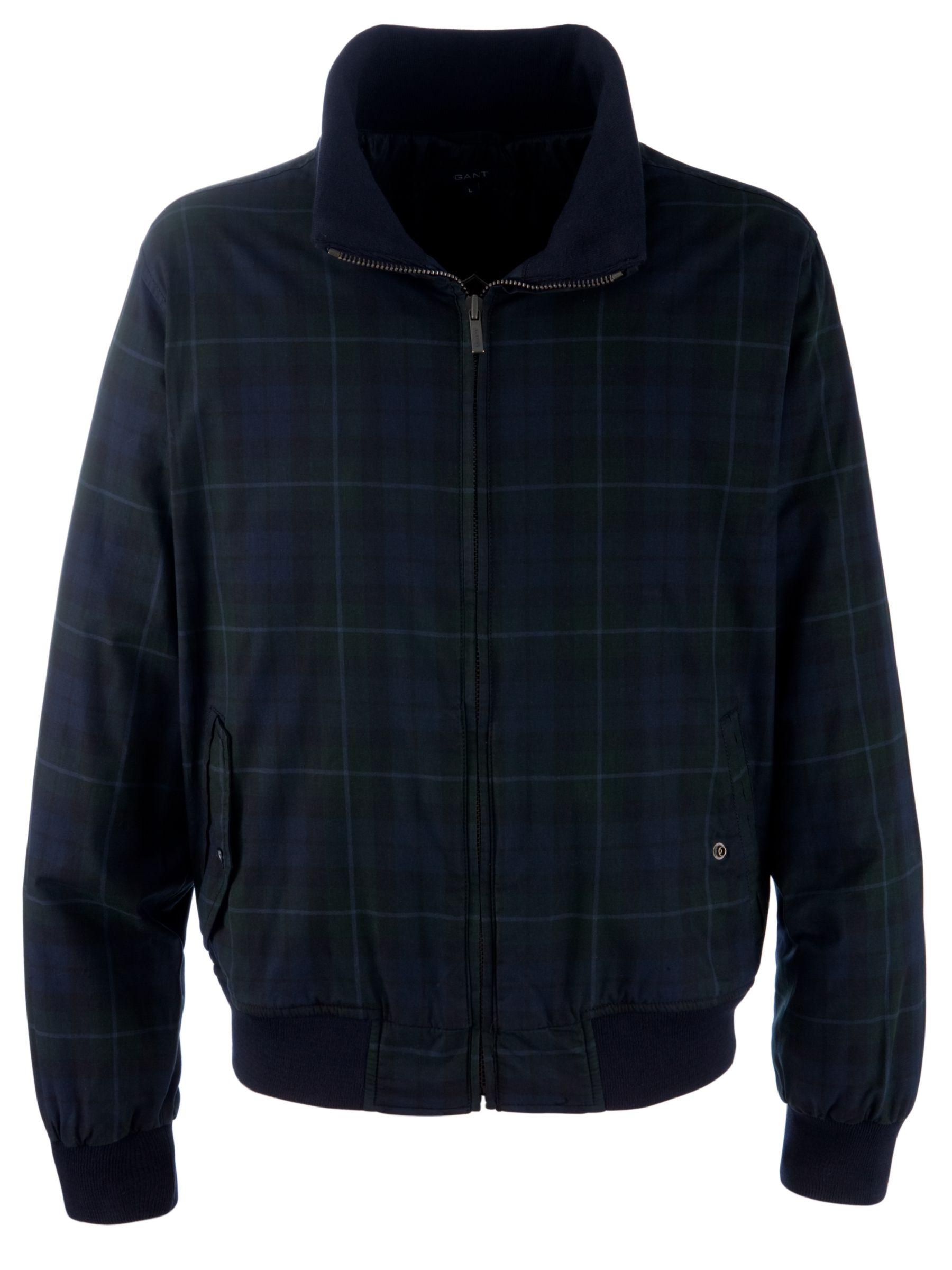 Gant Blackwatch Lumber Jacket, Blue at John Lewis