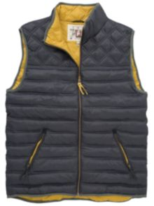Joules Cook Quilted Gilet, Navy