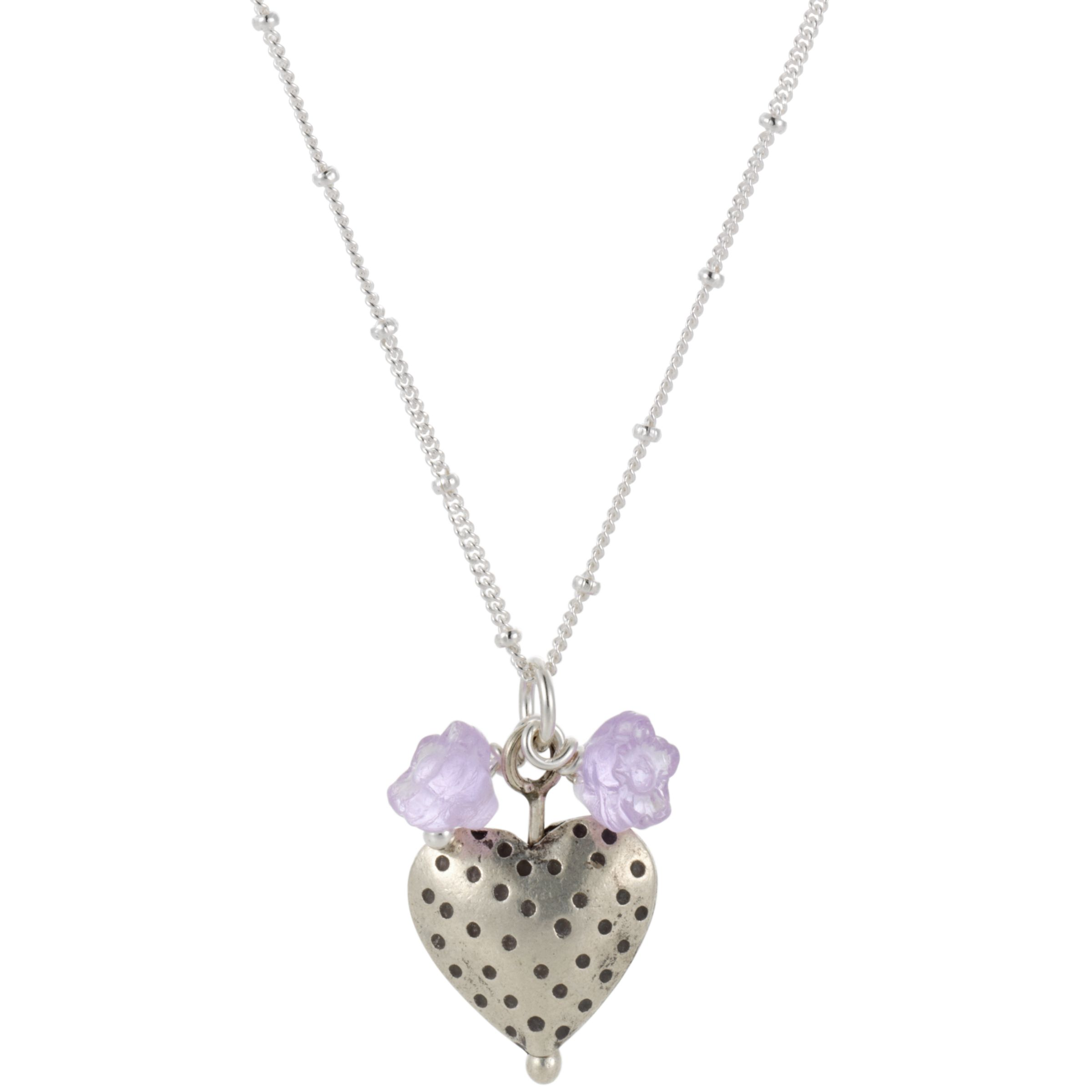Martick Dotty Heart Blossom Pendant Necklace