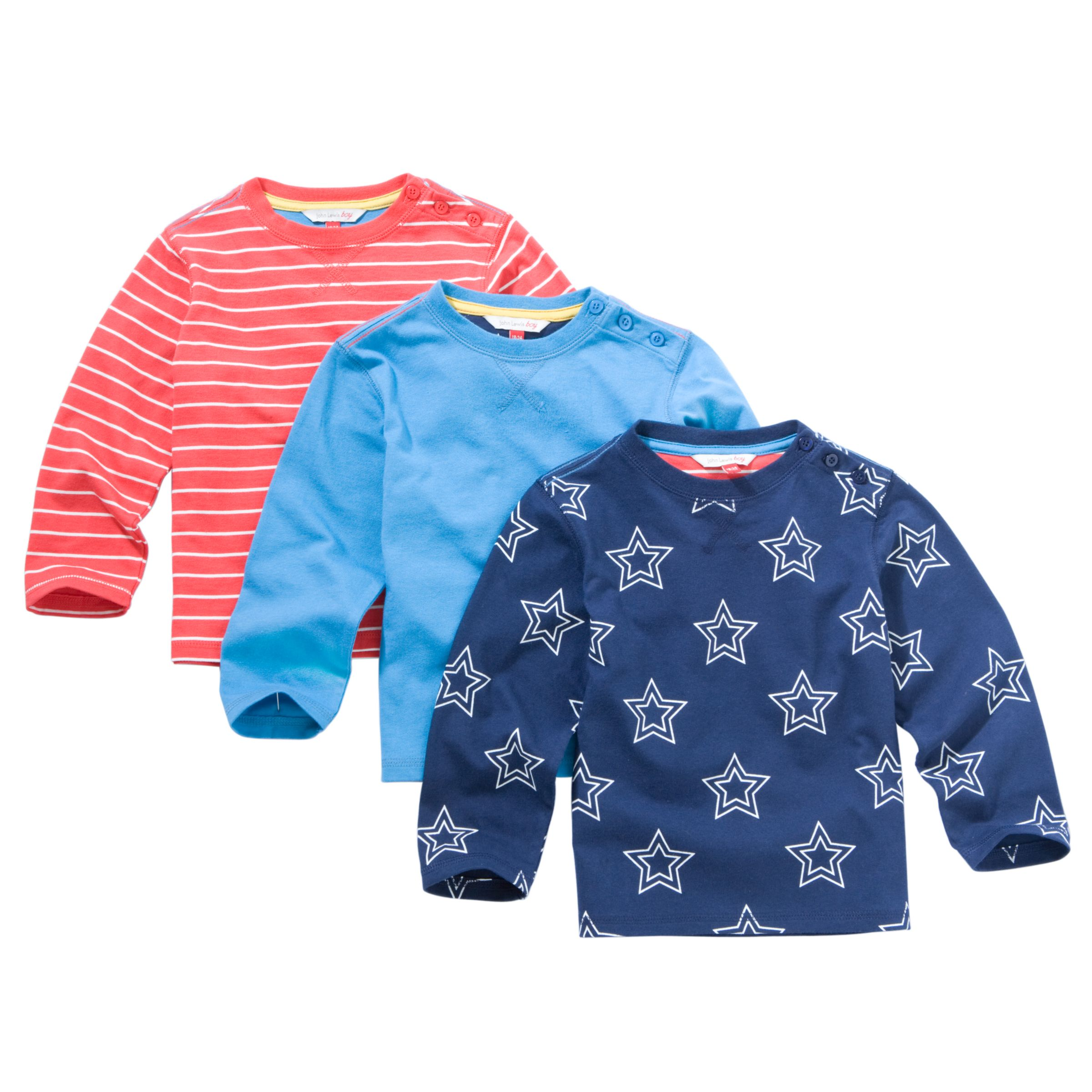 Star T-Shirt, Pack of 3,