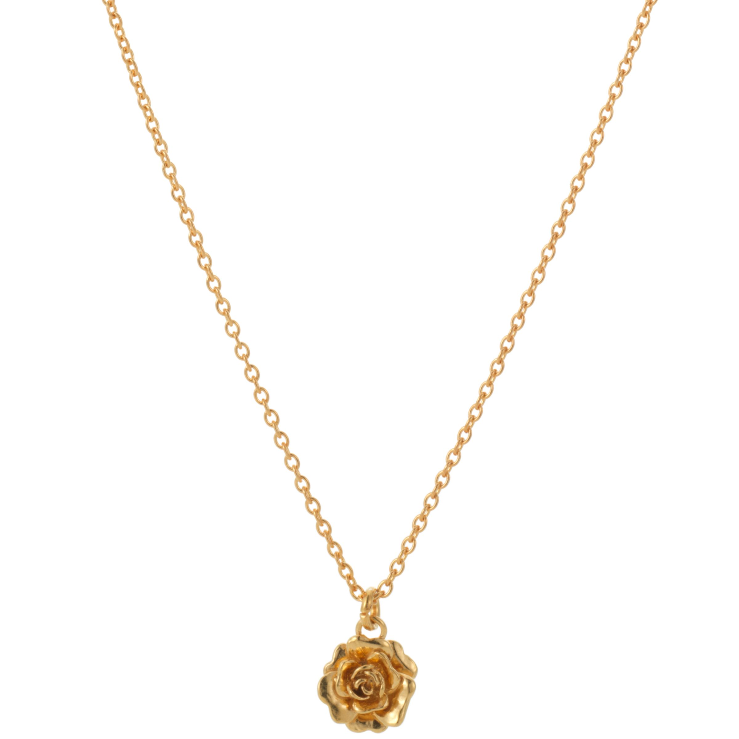 Alex Monroe Rosa Necklace, Gold Coloured