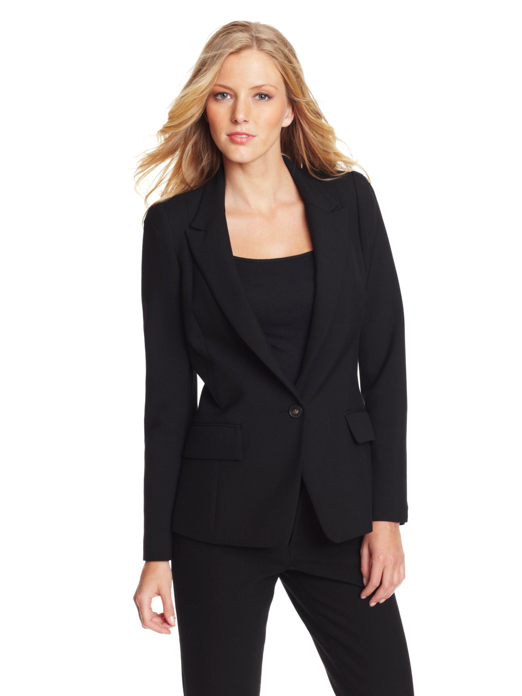 Gérard Darel One Button Suit Jacket, Black at John Lewis