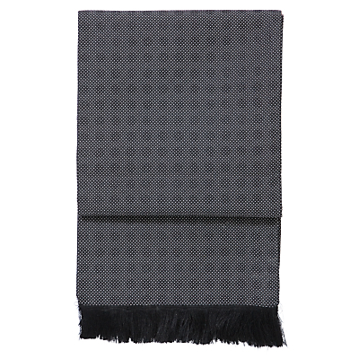John Lewis Polka Dot Dress Scarf, Black