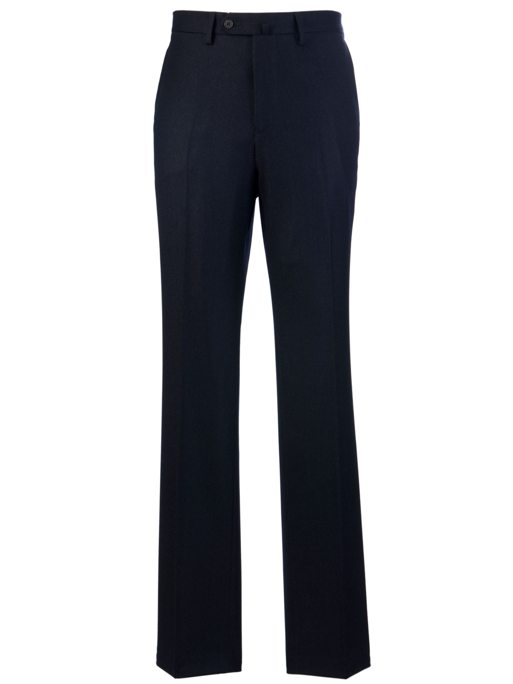 Hackett London Shadow Stripe Suit Trousers, Navy at JohnLewis
