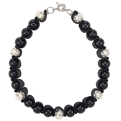 £30 Adele Marie Black Pearls and Diamante Ball Necklace