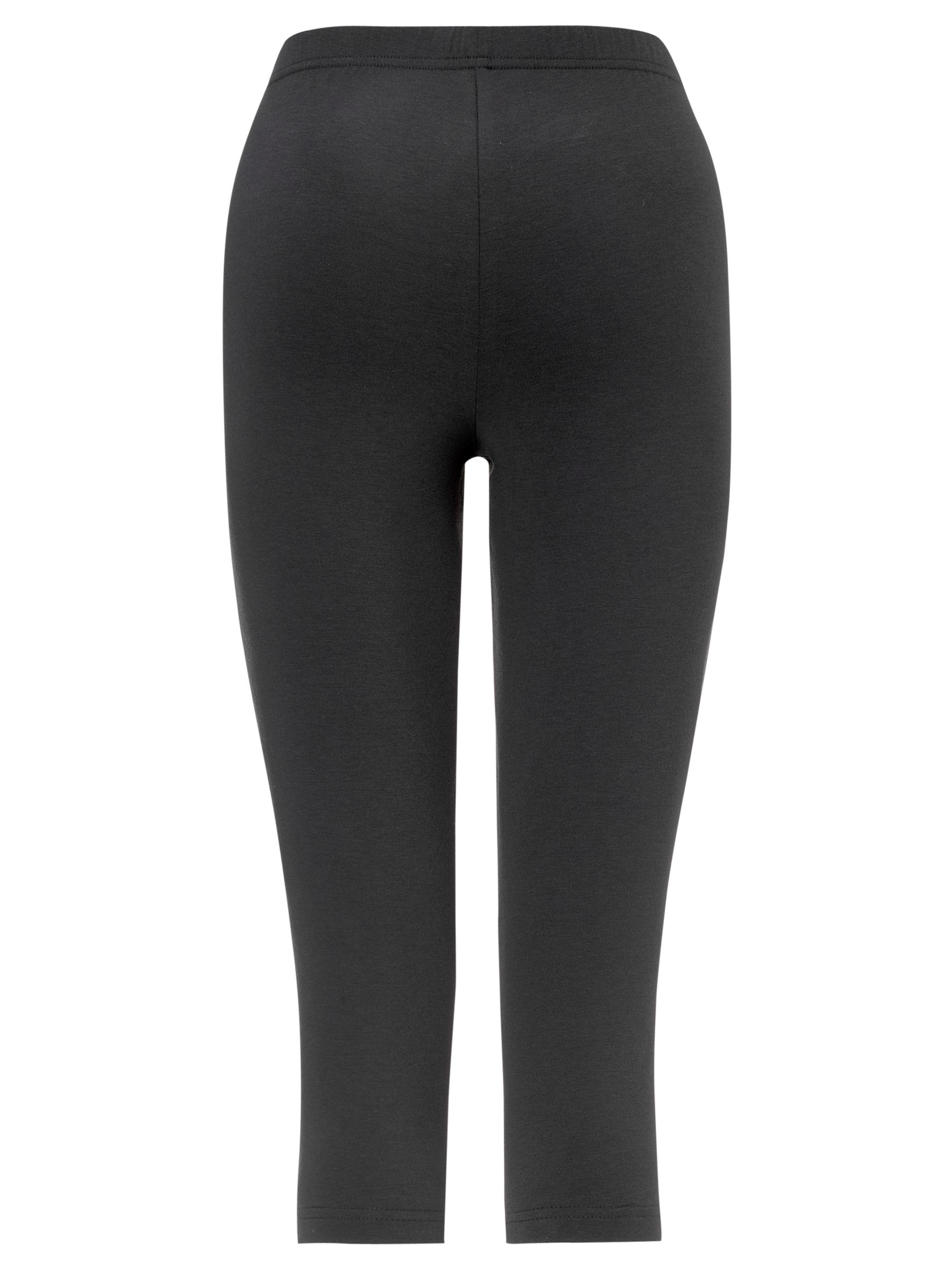 John Lewis Yoga 3/4 Tights, Charcoal