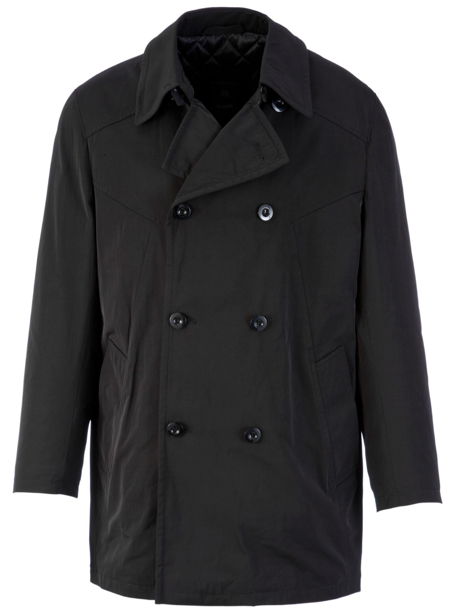 Bugatti Fashion Trench Coat, Black at John Lewis