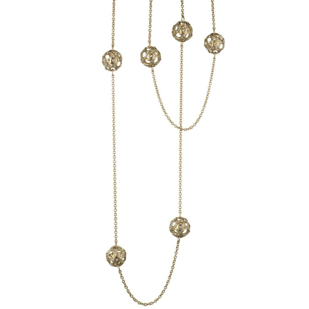 Hot Diamonds Gold Bali Orb Maxi Chain Necklace